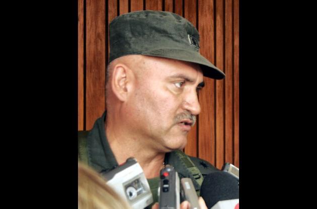 Brigadier general, Orlando Páez  Barón, director de Seguridad Ciudadana de la Policía Nacional.