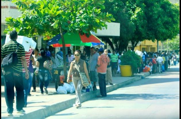 Avenida Venezuela ocupada