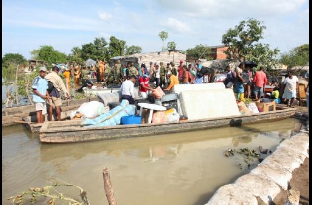Inundaciones en gambote