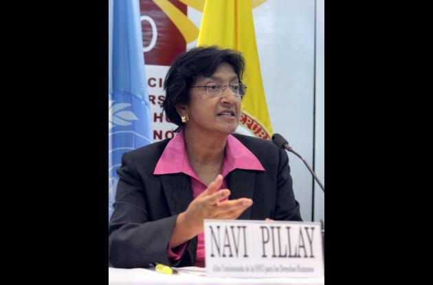 Navi Pillay, Alta Comisionada de Naciones Unidas para los Derechos Humanos.