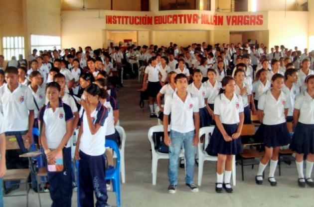 En la Institución Educativa Millán Vargas, los estudiantes también se han sumado al proceso de emprendimiento.