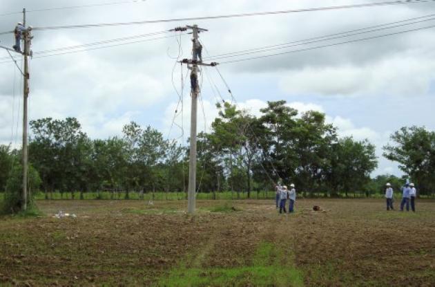 Paralelo a los trabajos, Electricaribe trabaja en la repotenciación de la línea 577, que va desde la subestación San Marcos hasta la subestación Majagual.