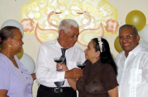Emilse Guerrero, Luis Ríos Sierra, Carmen Morales Yépez y Andrés Santos Camargo.