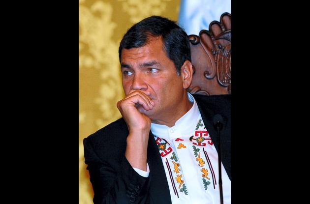Presidente del Ecuador Rafael Correa