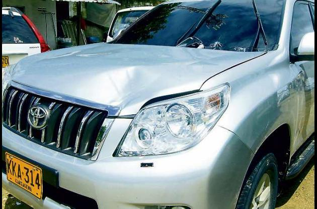Esta es la camioneta Toyota Prado, de placa KKA 314, involucrada en el accidente