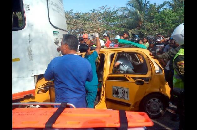 Accidente de busetas de ruta de Ternera