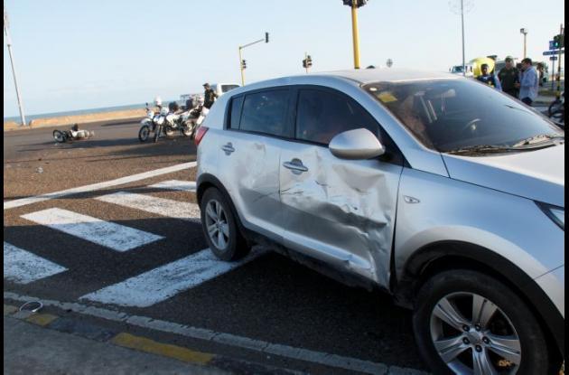 Accidente de tránsito en Las Tenazas.