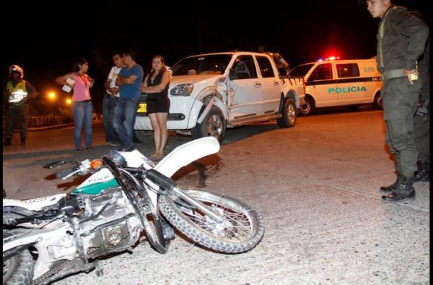 ACCIDENTE DE TRANSITO policias