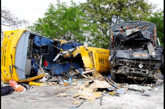Accidente de tránsito en la Troncal de Occidente.