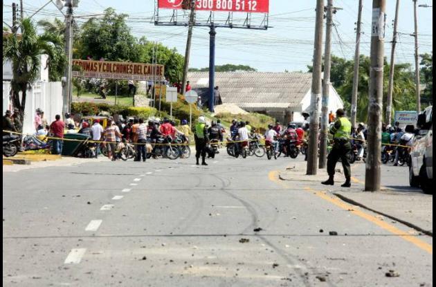 Accidente de tránsito en la Troncal de Occidente en Sincelejo