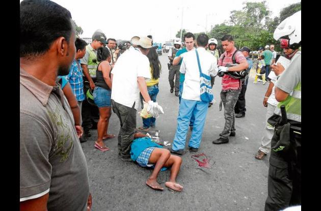 accidente de tránsito en la carretera La Cordialidad.