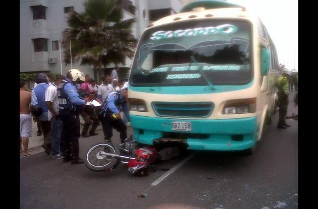 Accidente en la Avenida Santander