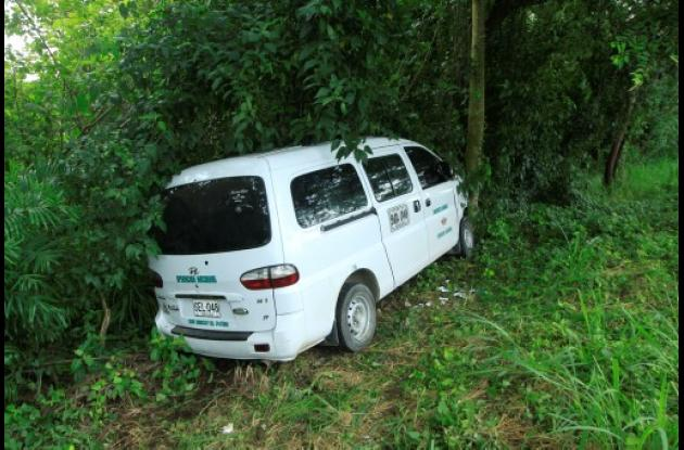 La VAN accidentada es de placas SEL 048 iba con rumbo a Lorica.