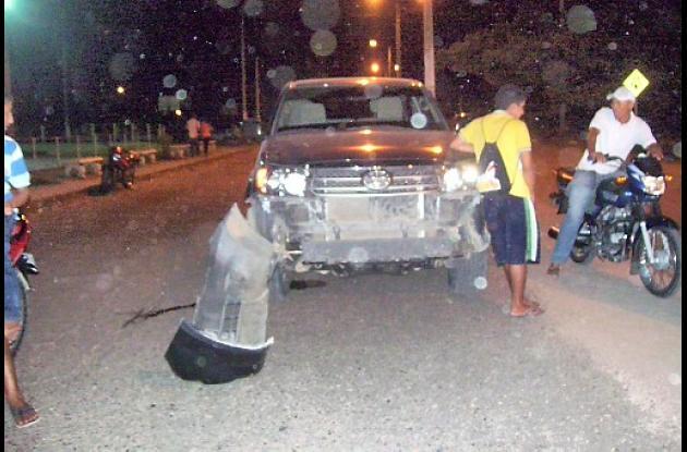 Accidente en Magangué.