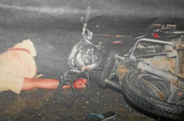 Accidente que se presentó en la vía San Carlos y Cereté