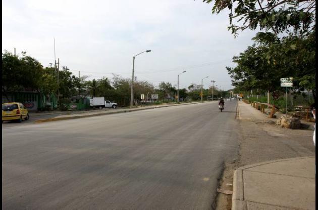 Corredor de Carga, frente al barrio Santa Clara.