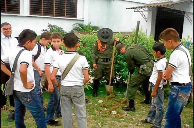 Estudiantes de la Institución  Educativa Gabriel Taboada Santodomingo de Ovejas.