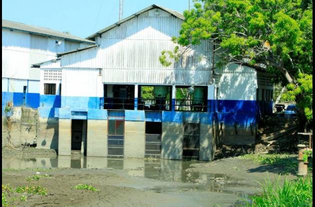 El acueducto de Gambote se inundó durante la emergencia invernal de 2010-2011.