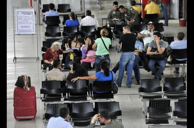 Caos en los aeropuertos.