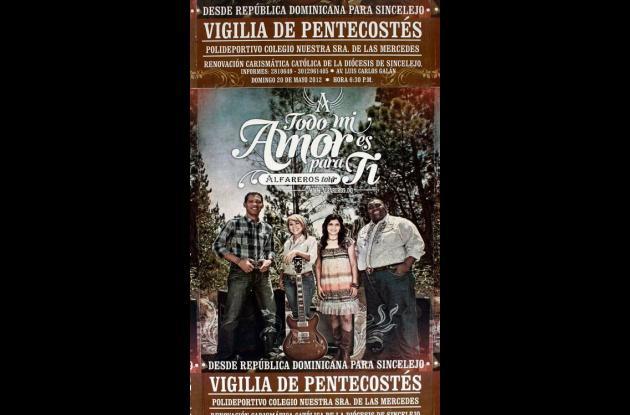 Afiche promocional del concierto de Alfareros en Sincelejo.