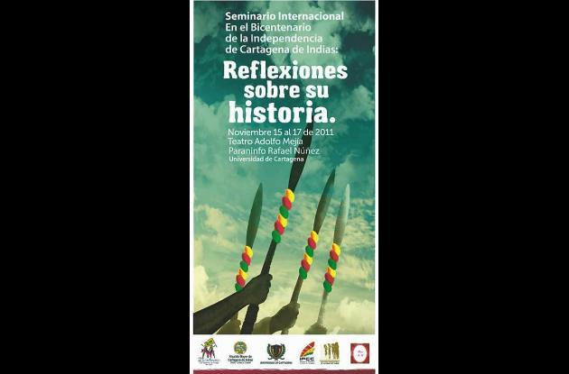 Afiche promocional del  Seminario Internacional 'Bicentenario de la Independenci