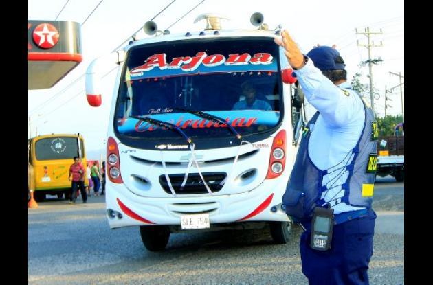 Agentes de tránsito de Cartagena
