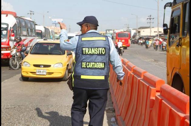 Controles viales en Cartagena