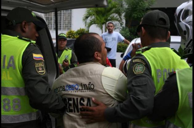 Agresión a periodista en Barranquilla