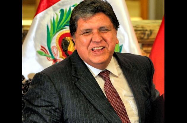 Alan García, presidente de Perú.