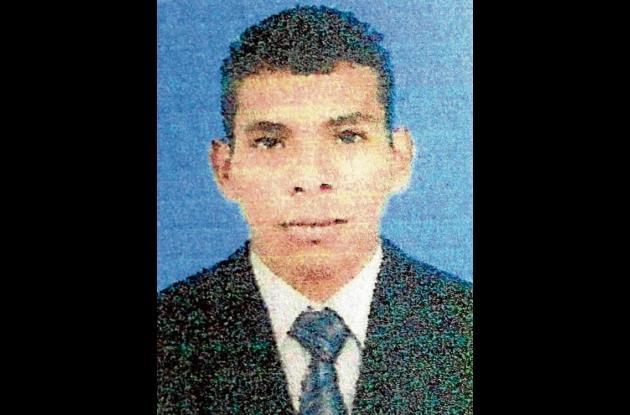 Albeiro Pedroza Basilio, fallecido  en accidente de tránsito.