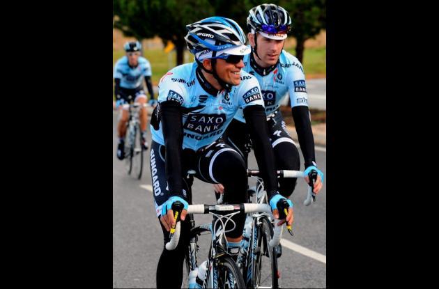 Alberto Contador compite en la Vuelta al Algarve