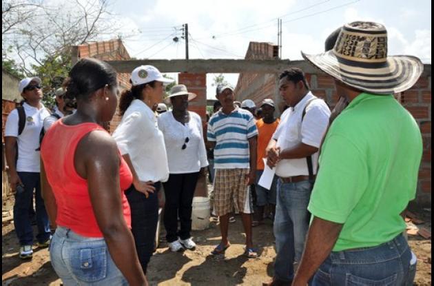 La alcaldesa Judith Pinedo visita veredas de los corregimientos del Distrito.