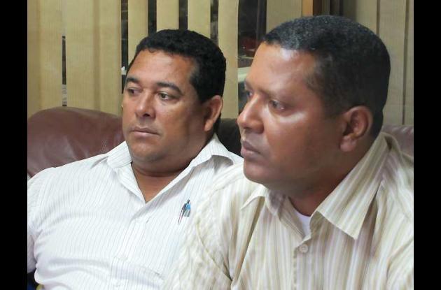 Los alcaldes Fredys Enrique Jiménez Torres y Jorge Luis Batista Herrera.