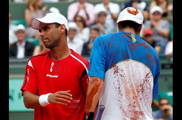 Alejandro Falla se despidió del Roland Garros.