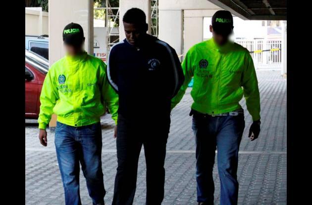 El operativo de la captura se realizó en el barrio Los Caracoles.