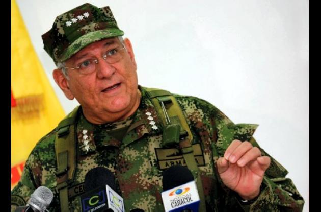 Almirante Ëdgar Cely, comandante de las Fuerzas Militares.