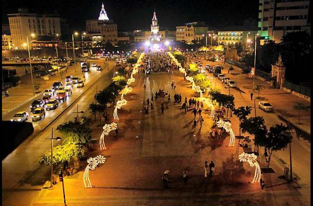 Estreno de alumbrado navideño en Cartagena