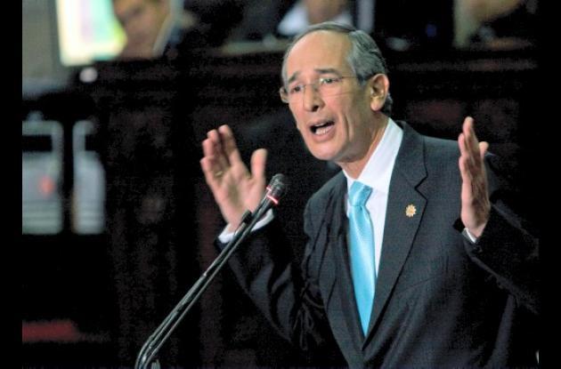 Álvaro Colom, presidente de Guatemala.