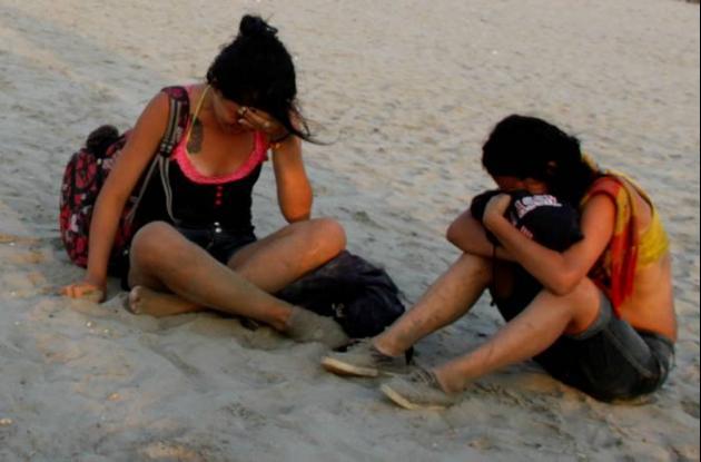 Los jóvenes llegaron desde el viernes a Cartagena procedentes de Pereira.