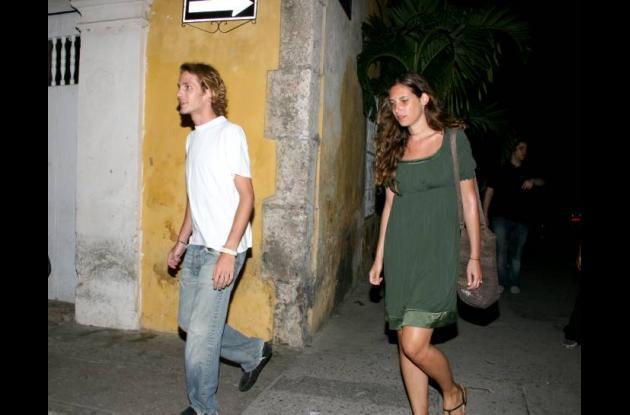 Andrea Casiraghi con Tatiana Santo Domingo en cartagena