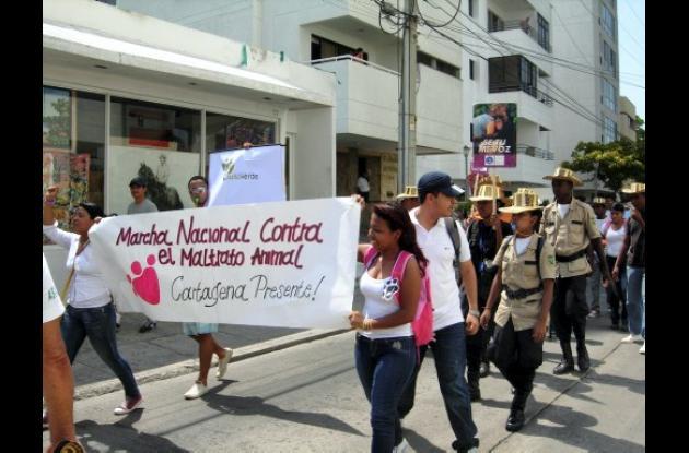 Marcha contra maltrato animal.
