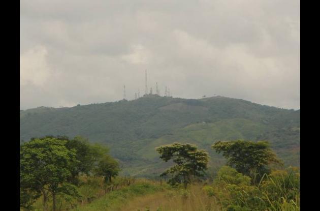 Antenas instaladas en el Cerro La Pita, colindante entre El Carmen de Bolívar y