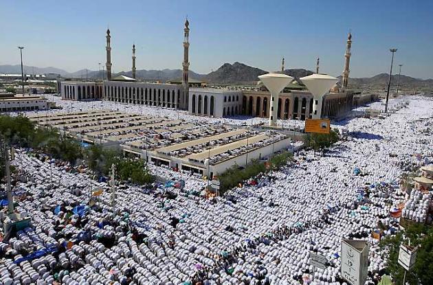 Musulmanes en peregrinaje anual del hajj.