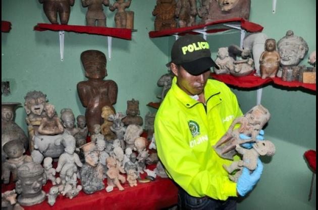 La Dijín incautó más de 6 mil piezas arqueológicas en Tumaco pertenecientes al p