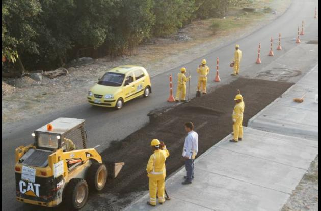 Reparación de vías en Cartagena