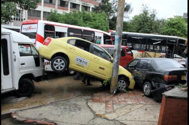 carros chocados