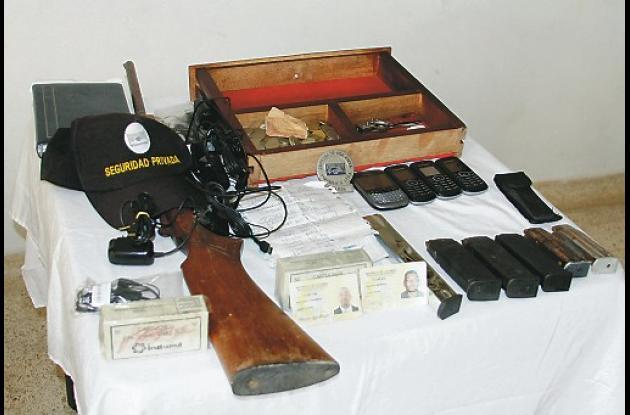 En la casa de Julio César Peluffo Mariota la Policía halló todo un arsenal.