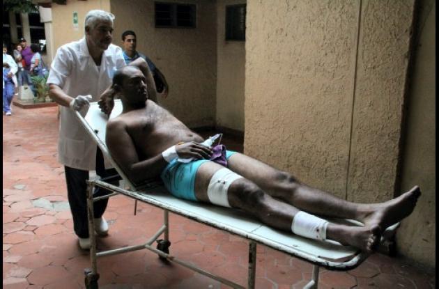 Durante la balacera fue herido uno de los presuntos sicarios.