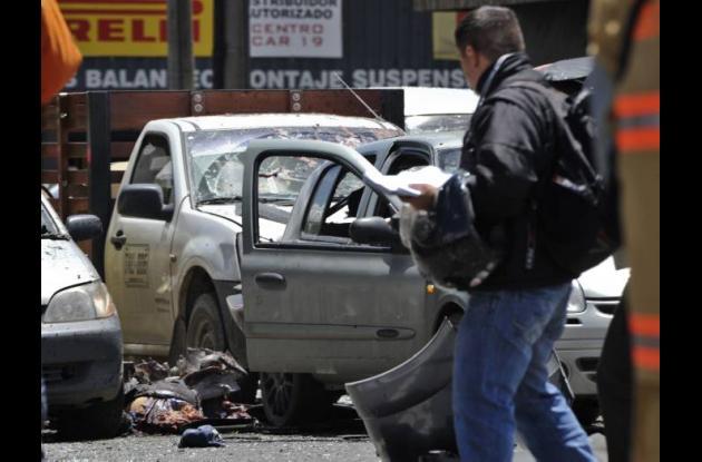 Atentado en Bogotá en la Calle 74 con avenida Caracas.