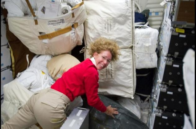 Sandy Magnu, única mujer astronauta a bordo del Atlantis.